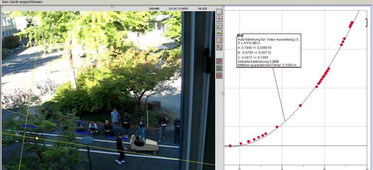 Bewegungsanalyse mit LoggerPro
