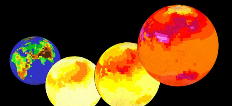 Veränderungen des Klimas mit einem einfachen Klimamodell in der Schule selbst erforschen.