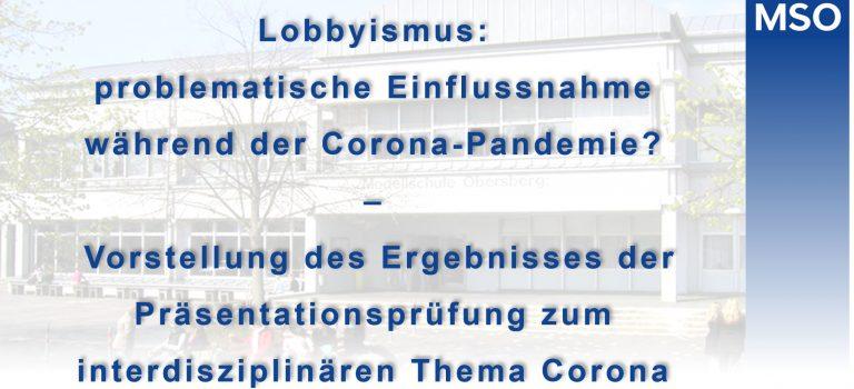 Lobbyismus: problematische Einflussnahme während der Corona-Pandemie?
